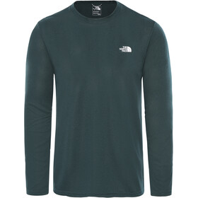 The North Face Reaxion Amp Langarm Rundhalsshirt Herren ponderosa green heather